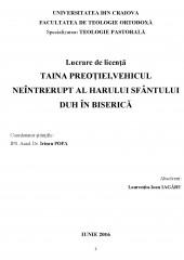 Taina Preotiei, Vehicul neintrerupt al harului Sfantului Duh in Biserica
