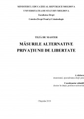 Masurile alternative privatiunii de libertate